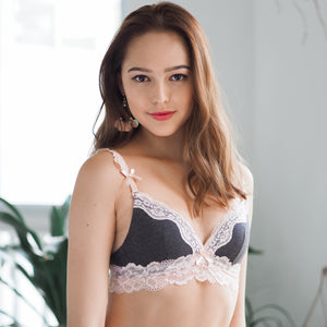 Romantic Illusions Everyday Wireless T-Shirt Bra in Dark Grey