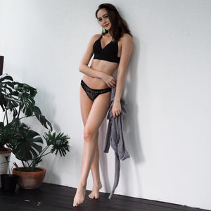 Boundless Love Bikini Cheeky in Black