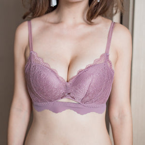 Pastel Peek-a-Boo Wireless T-Shirt Bra in Warm Oak
