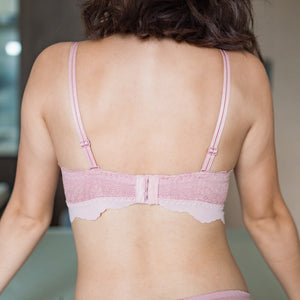 Pastel Peek-a-Boo Wireless T-Shirt Bra in Blush