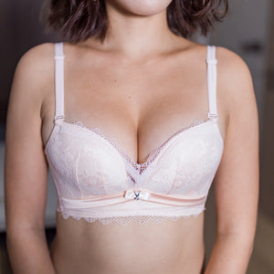 Go Glam Lacey T-Shirt Wireless Bra in Ivory Nude