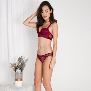 *RESTOCKED* Lush Angel Push Up Bra in Wine