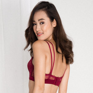 *RESTOCKED* Lush Angel Push Up Bra in Wine (Size L only)
