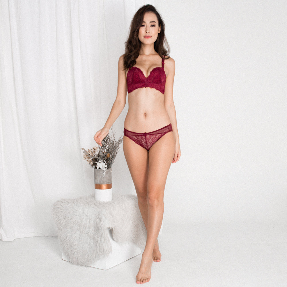 fefc78679 RESTOCKED  Lush Angel Push Up Bra in Wine - I M IN - i m i n x x . c o m