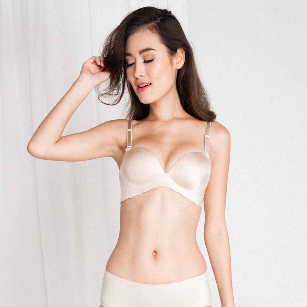 12a8321a9734a RESTOCKED  Entice Me Wireless Super Push Up Bra in Nude - I M IN ...