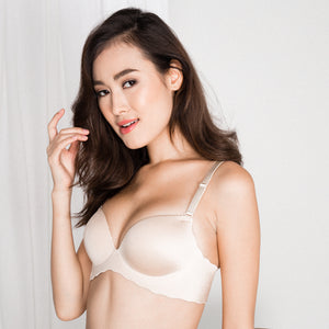 *RESTOCKED* Entice Me Wireless Super Push Up Bra in Nude