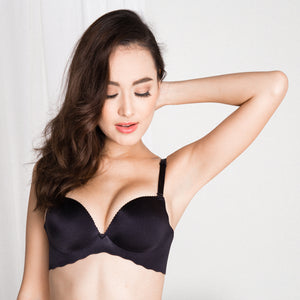 *RESTOCKED* Entice Me Wireless Super Push Up Bra in Black