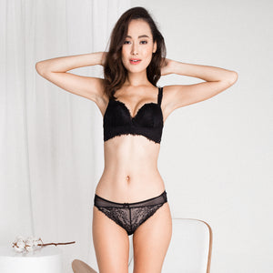 *RESTOCKED* Lush Angel Push Up Bra in Black