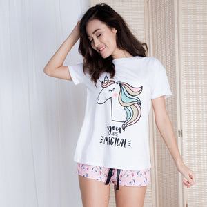 You Are Magical Unicorn Tee in Pearl White