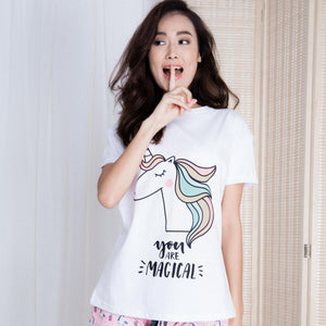 Rainbow After The Rain Unicorn Gift Set (1 Tee + 1 Lounge Shorts)