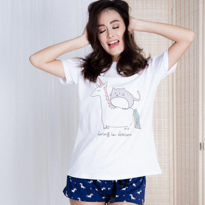 Living In Dreams Unicorn & Midnight Starlight Gift Set (1 Tee + 1 Lounge Shorts)
