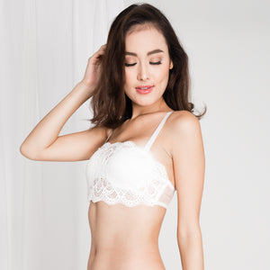 *BACKORDER OPEN* Sexy Beyond Words 2-Way Push Up Bandeau Strapless Bra in White