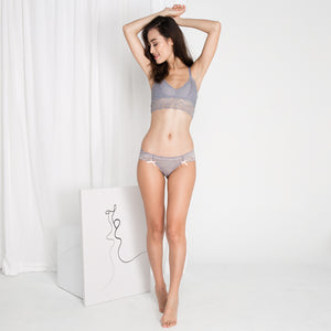 Sweet Dreams Snuggle Midi Bralette (Grey) (Size S & M Only)