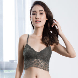 Sweet Dreams Snuggle Midi Bralette in Olive Green