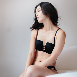 Non-Slip Strapless Everyday Comfort 2-Way Bra (Black)