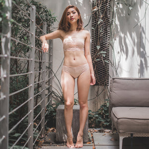 Sexy Beyond Words Bikini Cheeky in Nude (Size S & L Only)