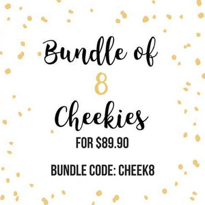 Bundle of 8 Cheekies + Free Courier Delivery!