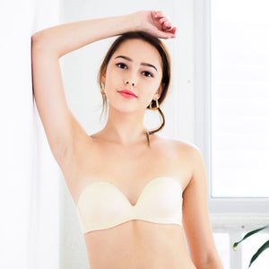 4th Gen 100% Non-Slip Wireless Strapless Bra in Nude