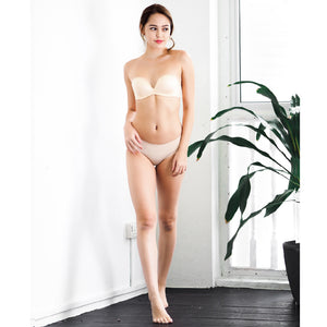4th Gen 100% Non-Slip Wireless Strapless Bra in Nude (Size 34C Only)