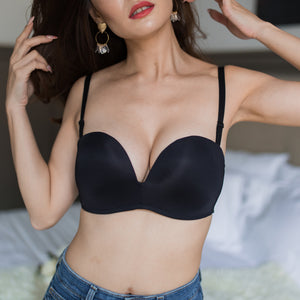 4th Gen X 100% Non-Slip Wireless Strapless Bra in Black