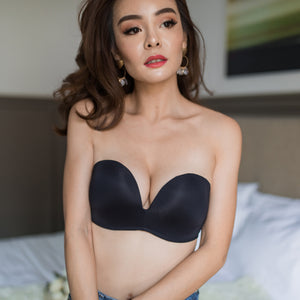 *RESTOCKED* 4th Gen X 100% Non-Slip Wireless Strapless Bra in Black