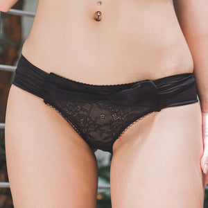 Dazzling Beyond Words Bikini Cheeky in Black (Size S Only)