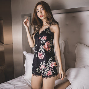 *BACKORDER* Summer Love Sleepwear Set in Black