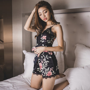 *BACKORDER OPEN* Summer Love Sleepwear Set in Black