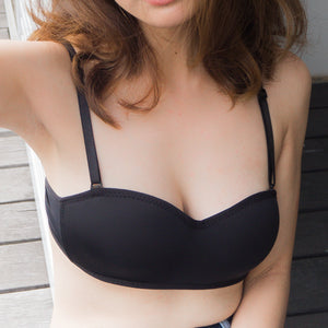 CLASSIC COMFY 2-WAY STRAPLESS WIRELESS BRA IN BLACK