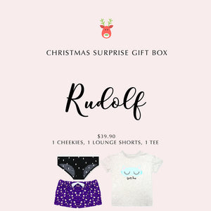 RUDOLF - Christmas Gift Box (1 Cheekies, 1 Lounge Shorts, 1 TEE) - I'M IN  -  i m i n x x . c o m - 1