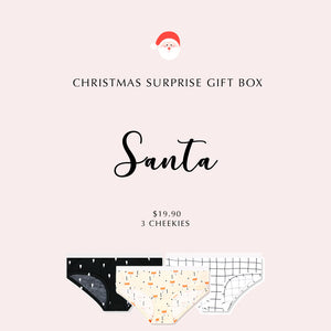 SANTA - Christmas Gift Box (3 Cheekies) - I'M IN  -  i m i n x x . c o m - 1