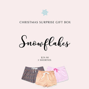 SNOWFLAKES - Christmas Gift Box (3 Shorties) - I'M IN  -  i m i n x x . c o m - 1