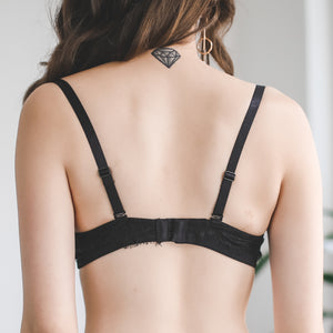 Moonstruck Wireless Push Up Bra in Black
