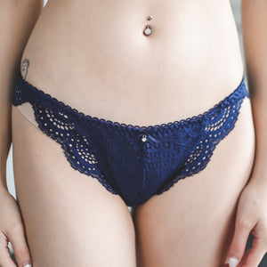 Cross My Heart Bikini Cheeky in Midnight Blue (Size S Only)