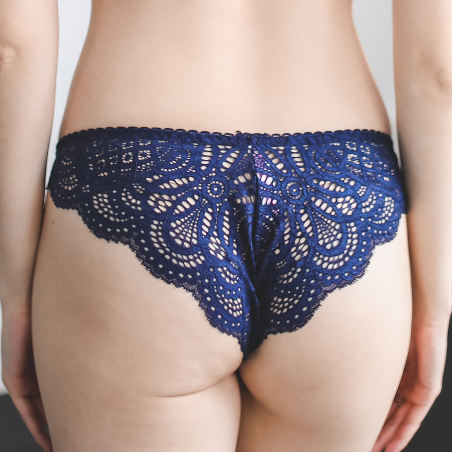 Cross My Heart Bikini Cheeky in Midnight Blue