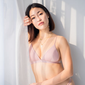 Midnight Muse Bralette in Muted Pink