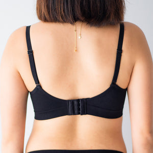 Oh-So-Comfy! Push Up Wireless Bra in Black