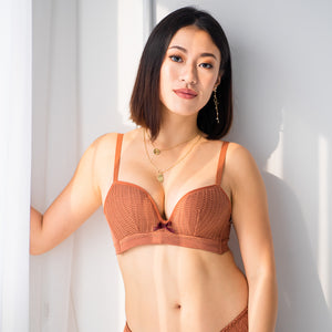 Oh-So-Comfy! Push Up Wireless Bra in Caramel (Size M only)