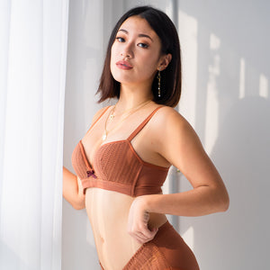 Oh-So-Comfy! Push Up Wireless Bra in Caramel