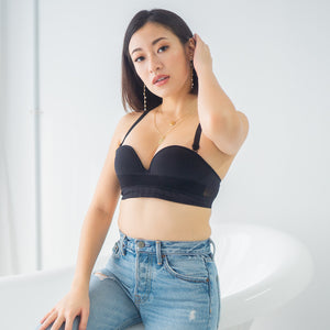 Fit Me! Strapless Push Up Wireless Bra in Black