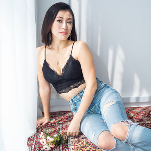 Sweet Fantasy Midi Bralette in Black
