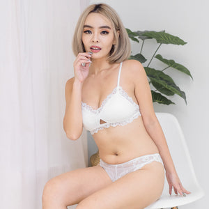 Blooming Love Bralette in White