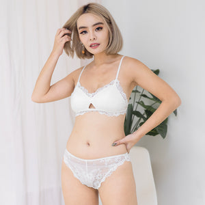 Blooming Love Lace Cheeky in White