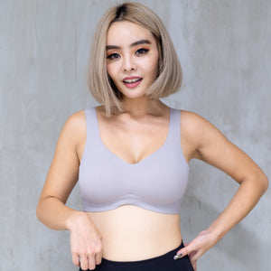 *RESTOCKED* Air-ee Seamless Bra in Ash - Thick Straps (Superfine Cotton)