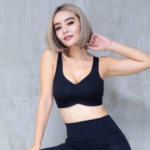 *BACKORDER OPEN* Air-ee Seamless Bra in Black (Superfine Cotton)