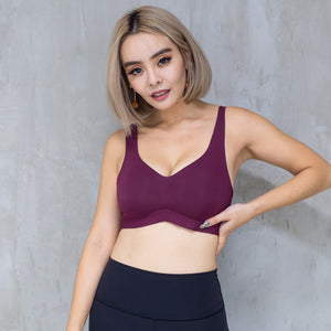 *RESTOCKED* Air-ee Seamless Bra in Wine (Superfine Cotton)