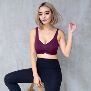 *BACKORDER OPEN* Air-ee Seamless Bra in Wine (Superfine Cotton)