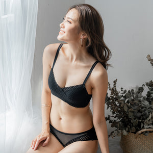 Easy-Breezy Ultra Soft Wireless Bra in Black