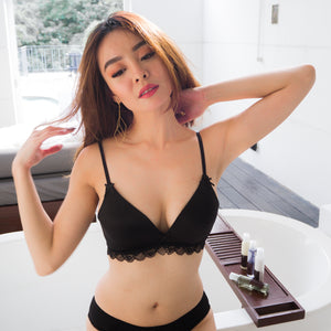 Enticed Everyday Wireless T-Shirt Bra in Black
