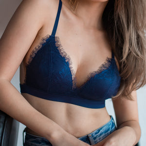 No-Wire Ultra Freedom T-Shirt Bra in Midnight Blue